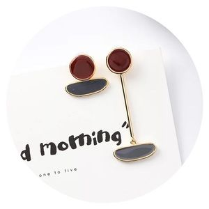 • NOW AVAILABLE! • Mismatch Enamel Drop Earrings •